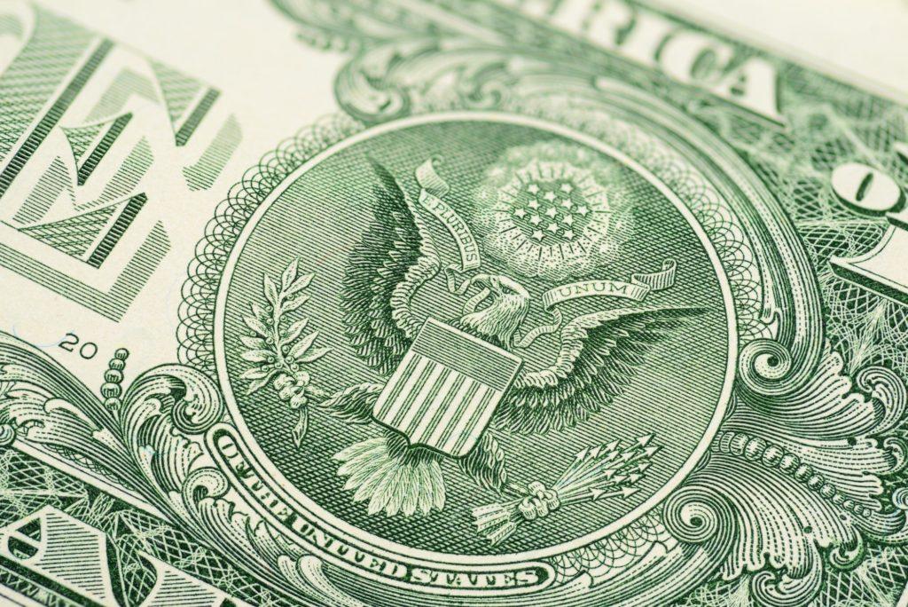 One dollar macro shot